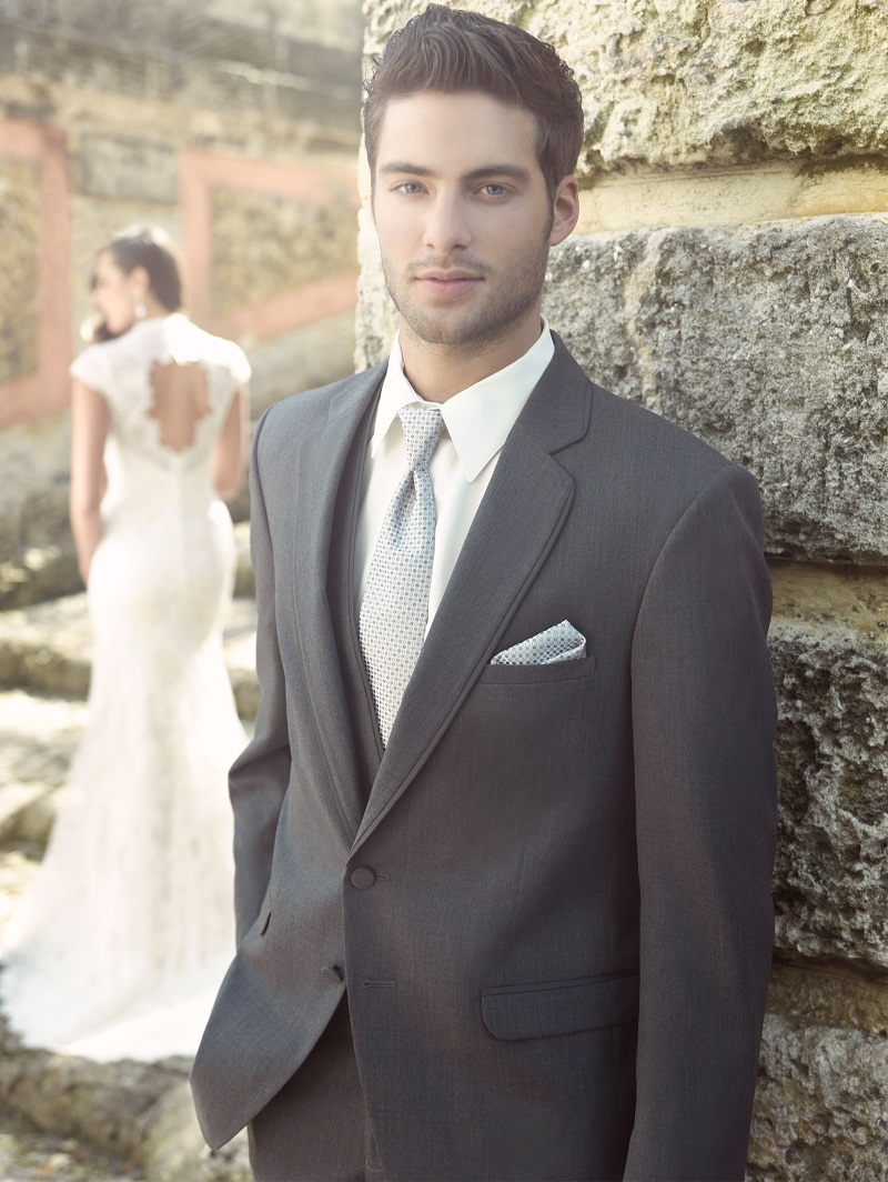 Latest Coat Pant Designs Dark Grey Formal Wedding Suits For Man Custom Groom Slim Fit 3 Pieces Tuxedo Jacket+Vest+Pants 189
