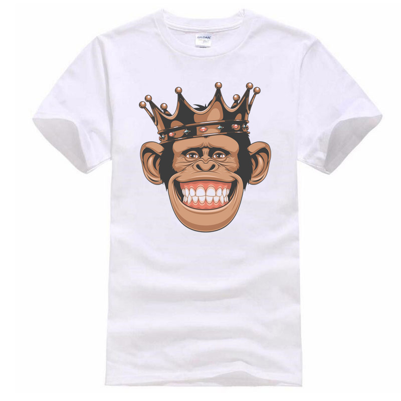 2018 New animals monkeys prints T Shirt Mens leisure fashion T-shirts Summer Skateboard Tee Boy Hip hop Skate Tshirt Tops Men