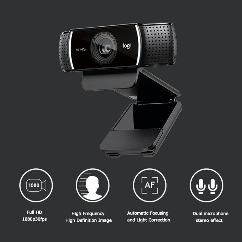 Logitech C922 Pro Autofocus Webcam Microphone intégré Streaming vidéo Web Cam 1080P 30FPS Full HD caméra d'ancrage avec trépied nouveau - 3