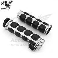 Retro 25mm 22nn chrome moto hand grips with booster moto handle bar for Harley Davidson motorcycle handlebar for harley grip
