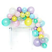 DIY Balloon Garland Kit Unicorn Rainbow 60pcs balloons mixed 5 10 12.free send balloon decorating strip,air pump,glue dots