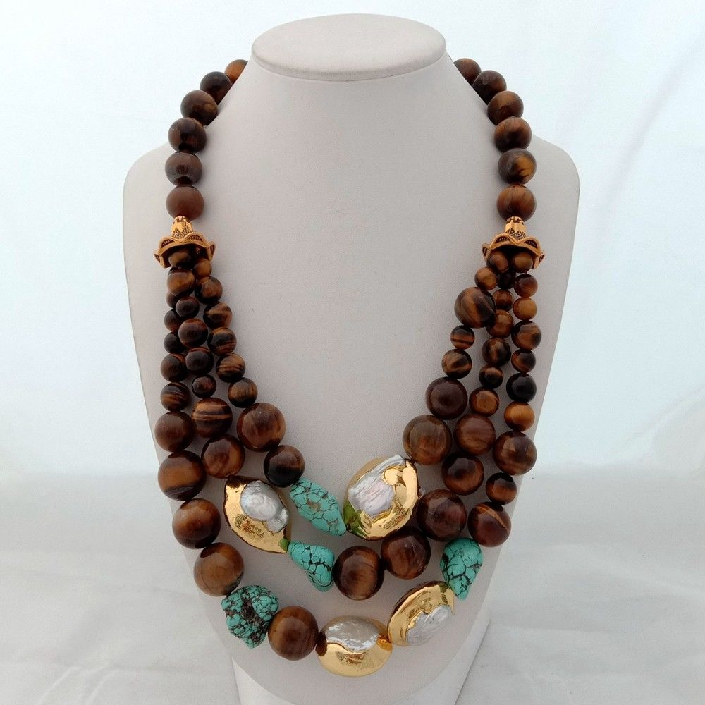 Strands, Pearl, Necklace, Tigers, Keshi, Eye