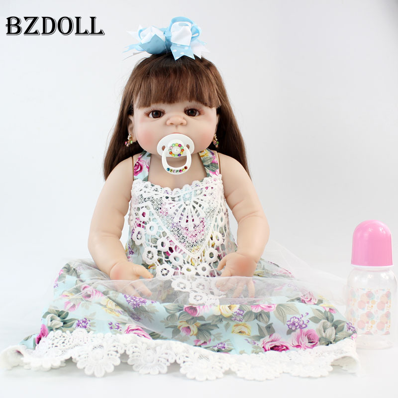 NPKCOLLECTION 22 Full Silicone Newborn Baby Princess Girl Doll Realistic Reborn Dolls Alive Bebe Boneca Toy Hand Rooted HairNPKCOLLECTION 22 Full Silicone Newborn Baby Princess Girl Doll Realistic Reborn Dolls Alive Bebe Boneca Toy Hand Rooted Hair