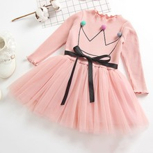 Autumn Baby Girls Dress Children Clothing Long Sleeve Toddler Princess Dress Outfits Clothes недорого