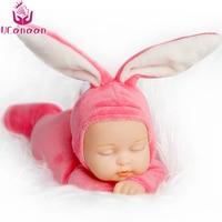25CM Rabbit Plush Stuffed Baby Doll Simulated Babies Sleeping Dolls Children Toys Birthday Gift For Babies