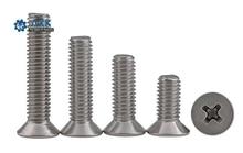 цена на 100pcs/Lot GB819 M2/M2.5/M3/M4 304 Stainless Steel Flat Head Cross Countersunk Head Screw