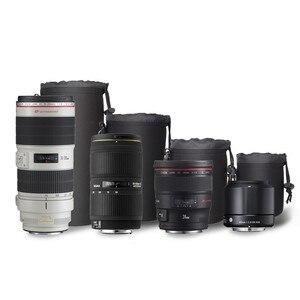 Image 5 - Capsaver 4 stks/partij Hoge Kwaliteit Neopreen Camera Lens Pouch Set Dikke Beschermende Zachte Zakjes Tas Case voor Canon Nikon Sony