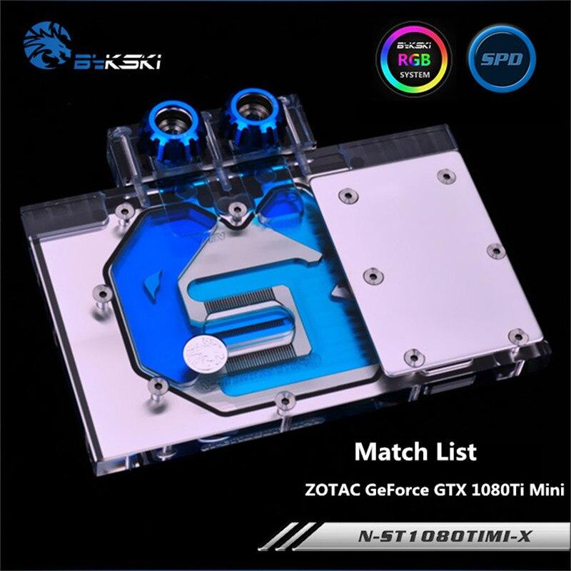 Bykski Full Coverage GPU Water Block For ZOTAC GeForce GTX 1080Ti Mini Graphis Card Radiator N-ST1080TIMI-X vg 86m06 006 gpu for acer aspire 6530g notebook pc graphics card ati hd3650 video card