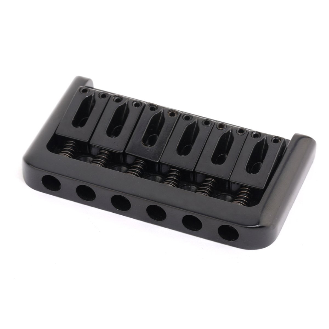 6 String Non-tremolo Hardtail Electric Guitar Bridge Saddle for Strat Stratocaster Tele Telecaster Guitar Replacement , Black kaish 6x guitar string through body ferrule 1 4 string ferrules for telecaster various colors