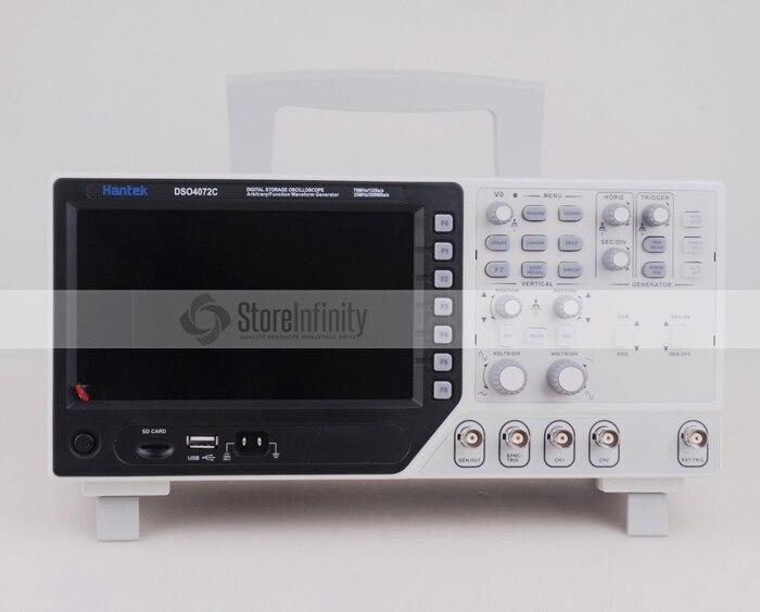 Hantek DSO4072C 2 Channel Digital Oscilloscope 1 Channel Arbitrary/Function Waveform Generator(China)