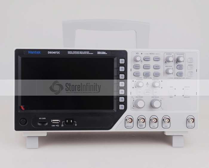 Hantek DSO4072C 2 Channel Digital Oscilloscope 1 Channel Arbitrary/Function Waveform Generator