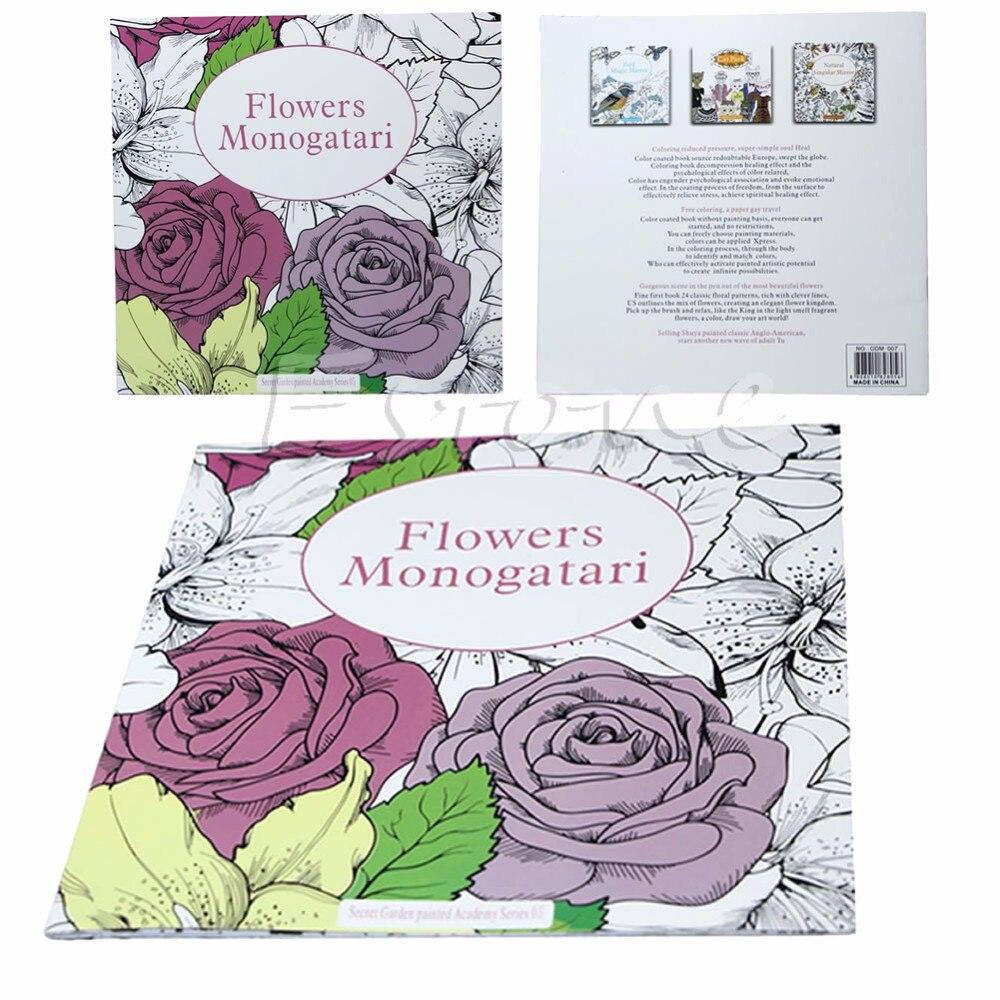 Coloring book untuk dewasa - New Fashion Diy Bunga Monogatari Dari Secret Garden Seri Buku Mewarnai Untuk Anak Anak Dewasa
