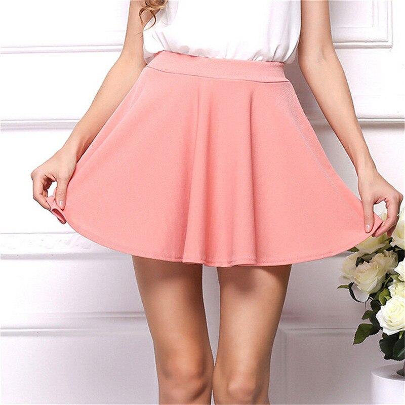 e7165c7b3 € 4.48 50% de DESCUENTO|Verano caliente sexy 2016 mujeres de moda sexy  falda stretch alta cintura fit Falda plisada casual mini falda corta en ...