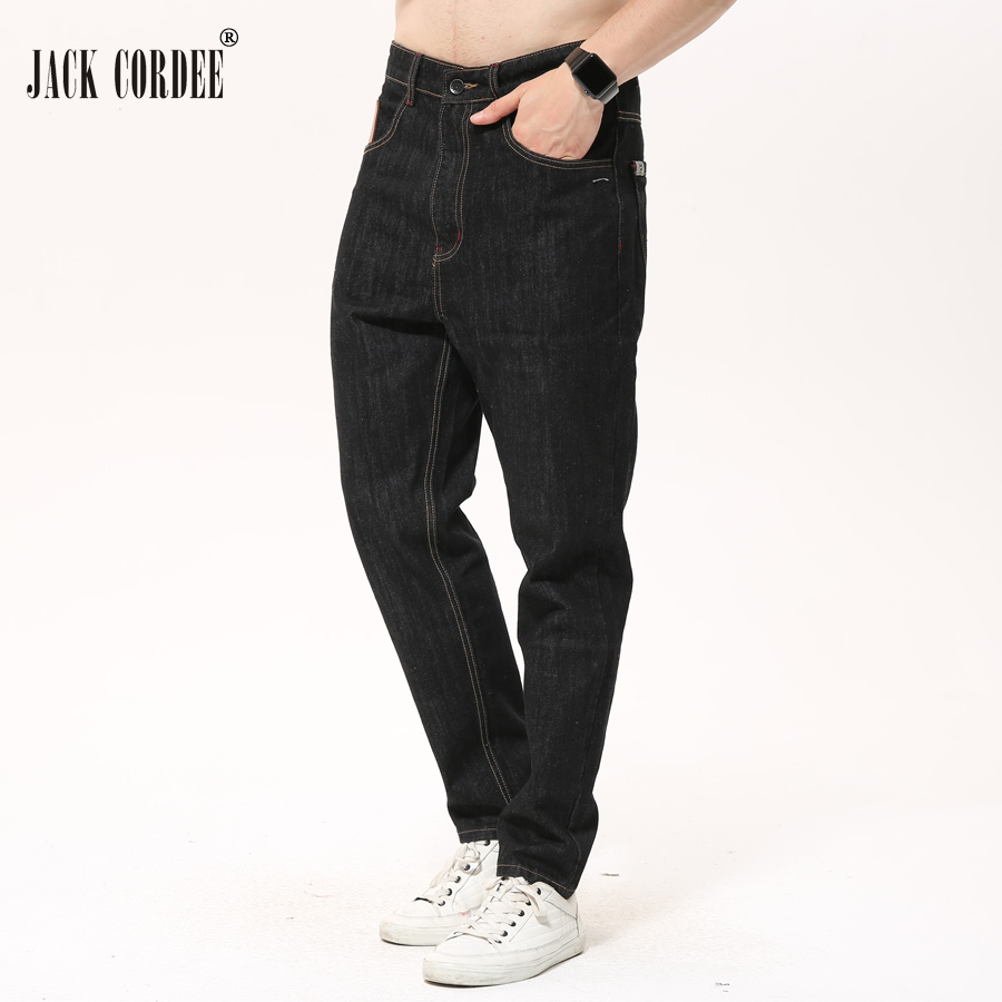 JACK CORDEE 2017 Fashion Designer Jeans Men Casual Straight Black Denim Pants Male Slim Solid Brand Jean Trousers jeans men slim straight ripped jeans male hole jean pants casual denim trousers high quality all match long men s biker jean 54