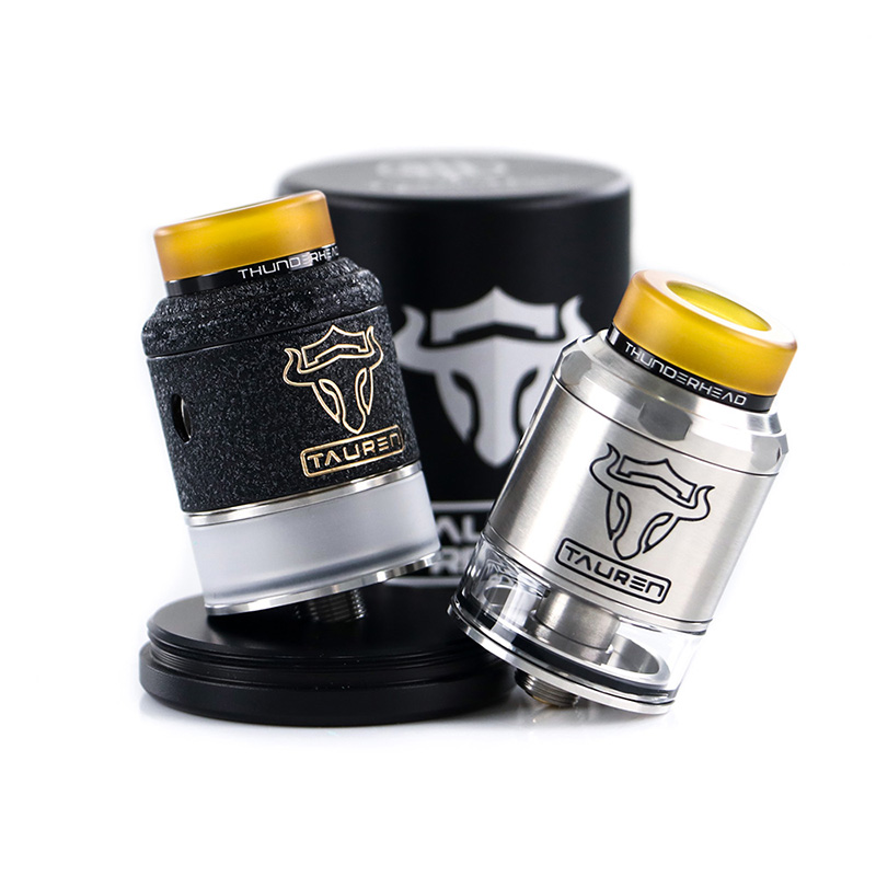 THC Tauren RDTA tank Double 28 micro air holes atomizer vape leak proof Rebuildable THC atomizer Fit for E Cigarette box mod in Electronic Cigarette Atomizers from Consumer Electronics