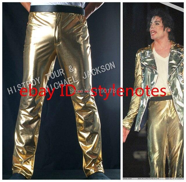 MICHAEL JACKSON GOLD HISTORY TOUR PANTS - PROFESSIONAL Trousers- Pro Series