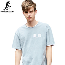 Pioneer Camp Chinese Style men t-shirt Short Sleeve Causal Cotton t shirt Male Letter Printed O-neck ADT901096