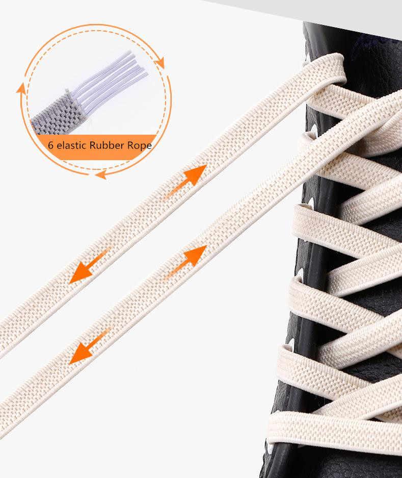 100 ซม.ยืดหยุ่นยางแบนยืดล็อคไม่มี Tie Lazy shoelaces รองเท้าผ้าใบรองเท้าผ้าใบรองเท้าเด็ก Shoelaces