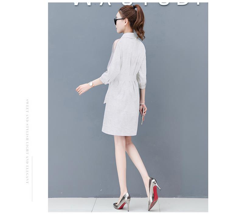 Dress female spring and autumn 2019 new fashion commuter slim strapless denim dress tide vestido Q280 21