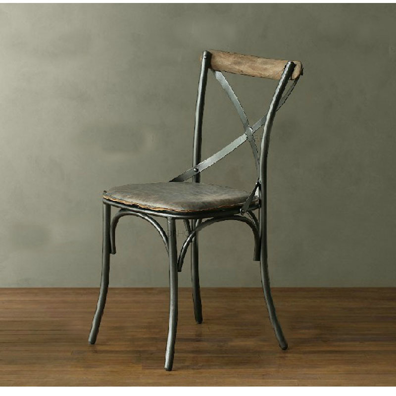 Lounge Stoel Retro.American Iron Leather Seats Parlor Cafe Restaurant Retro Lounge