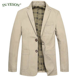 IN-YESON Casual Denim Coat Slim Fit Blazer Suit Jacket Men