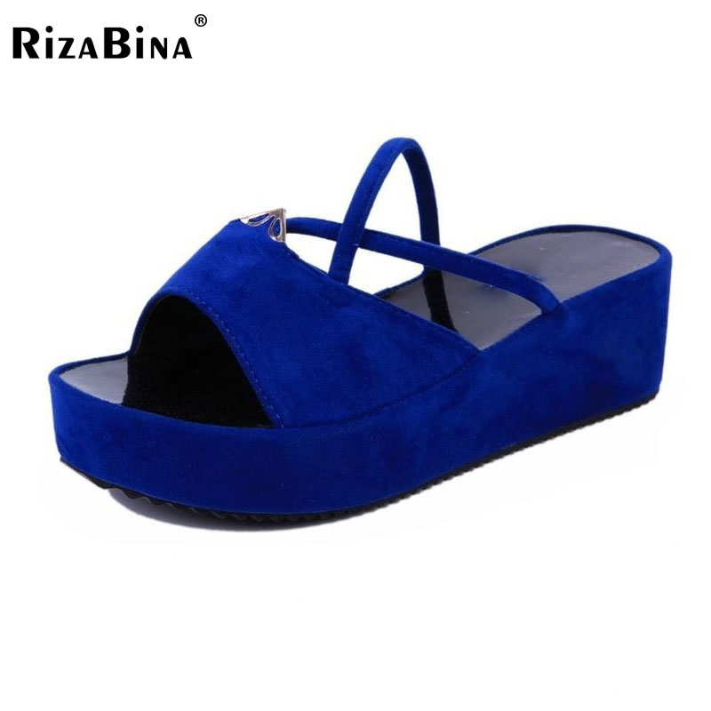 RizaBina fashion flip flops women wedge sandal platform sandals sexy summer beach shoes slippers size 35-39 WD0156 excellent quality free shipping new 1pair summer shoes fashion women sandals beach flat wedge flip flops lady slippers