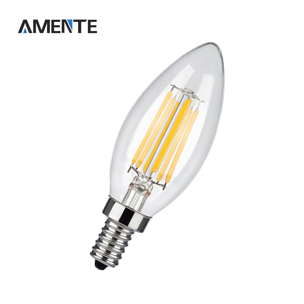 Vintage edison bulb old fashioned lamp classic a60 led 2w or 4w - 220v Antique Retro Led Bulb E14 Edison Filament Candel Light Glass Bulb Lamp 2w 4w 6w