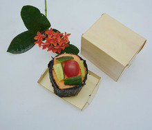 Free Shipping Event Party Suppliers Disposable Pine Wood Takeaway Food Box Bowl Sushi/Salad/Dessert 60*80*60mm, 100 Count Box