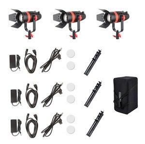 Image 5 - 3 Pcs CAME TV Boltzen 55 w Fresnel Có Thể Đặt Tiêu LED Bi Màu Kit Với Khán Đài Ánh Sáng