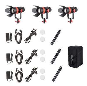 Image 5 - 3 Pcs CAME TV Boltzen 55 w Fresnel Fokussierbare LED Bi Farbe Kit Mit Licht Steht