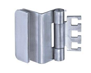 Door Hinge for glass to wooden door, Stainess steel hinge, 3D ...