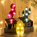 Decor Night Light Flamingo Pineapple Cactus Nightlight Christmas Wedding Party Desk Decorative 3D Lighting Kid Gift IY304103