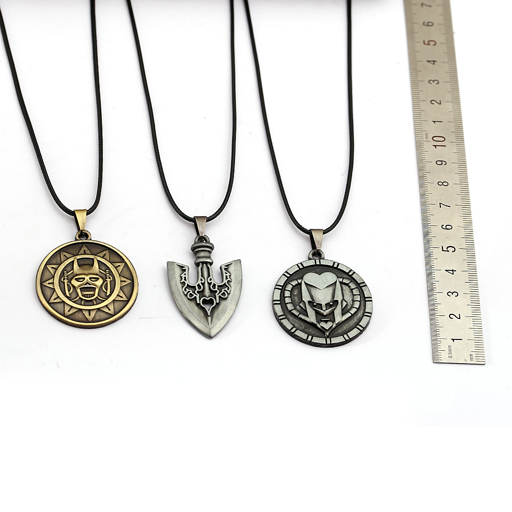 Bizarre Adventure Necklace Metal Pendant Rope Chain Choker Necklaces Killer Queen Gifts Anime Jewelry