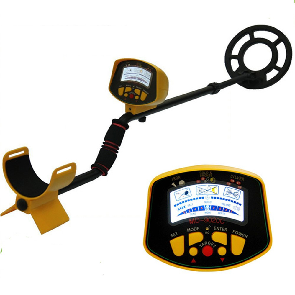 MD-9020C Underground Metal Detector Gold Digger Treasure Hunter LCD Display Treasure Hunter Finder md 5008 under ground metal detector gold digger coin finder treasure hunter big coil