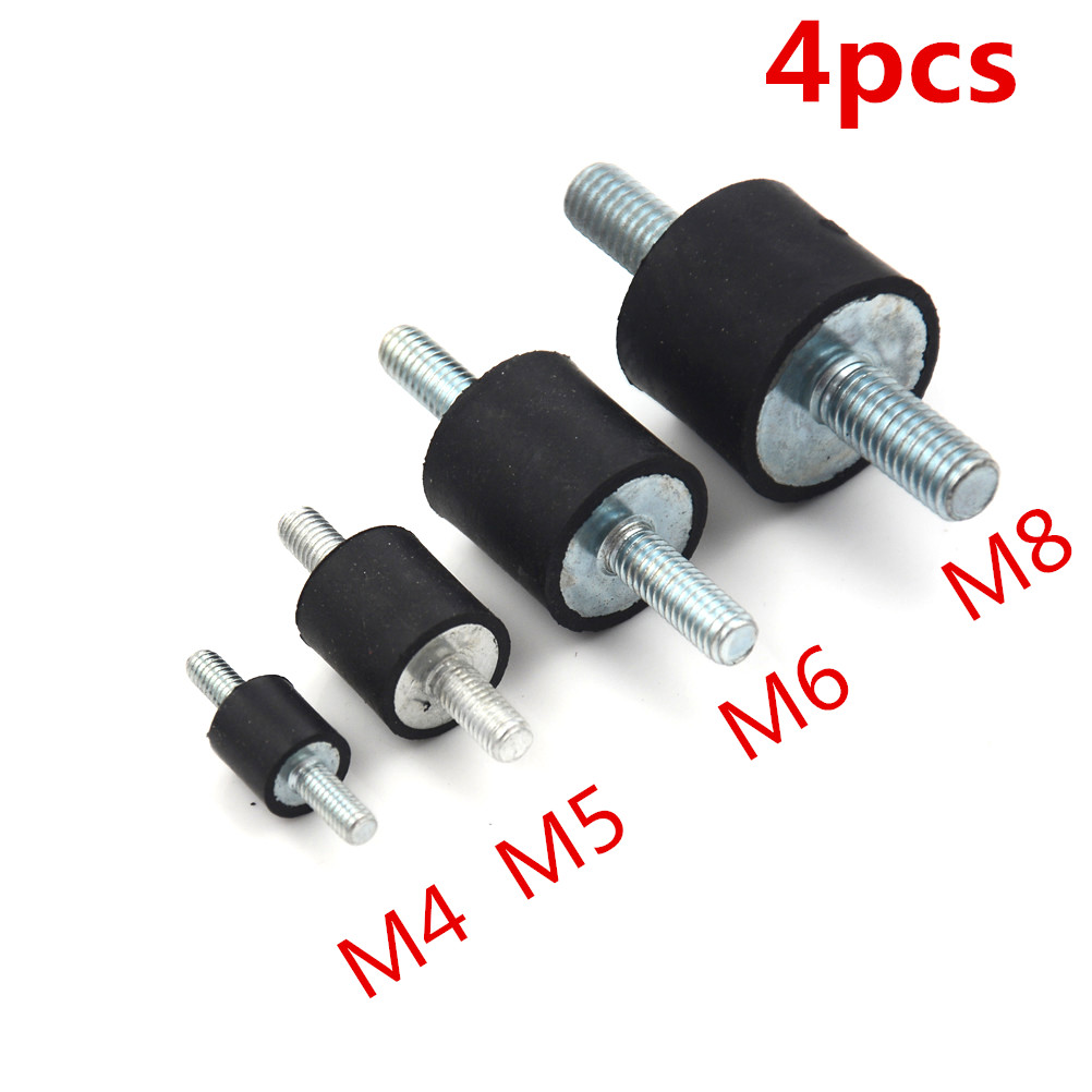 4pcs/lot Anti Vibration Silentblock Boat Car Bobbin  Rubber Mounts Male Tools M4 M5 M6 M8