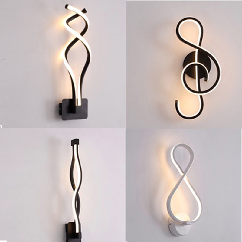Modern minimalist LED wall lamp creative shaped living room aisle staircase corridor study dining room bedroom bedside lamp modern minimalist led iron wall lamp creative bedroom living room balcony staircase aisle lamps bedside wall lamp corridor light