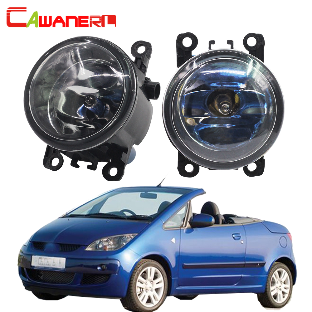 цена на Cawanerl 2 X 100W Car Halogen Fog Light Daytime Running Lamp DRL 4300K 12V For Mitsubishi Colt CZC Convertible (RG) 2006-2009