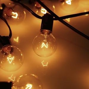 Image 4 - 25Ft G40 Globus Glühbirne Lichterketten mit 27 Klar Ball Vintage Lampen Hängen Regenschirm Patio String Beleuchtung Schnelle Versand Von UNS