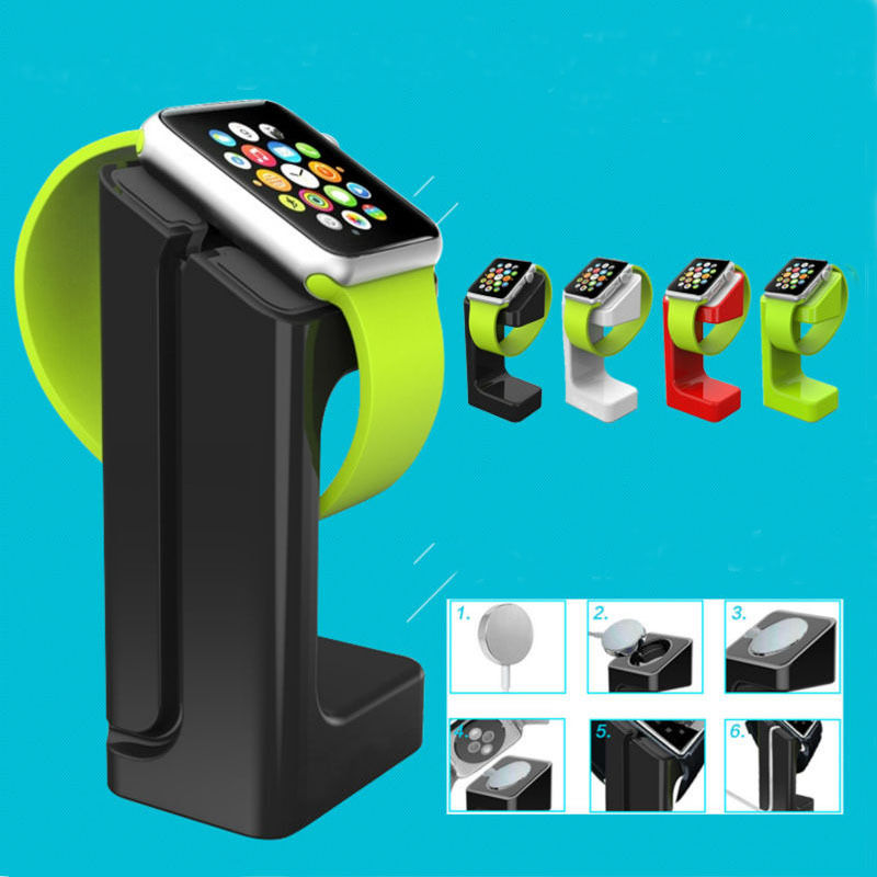 Charger Dock Holder Watch band Mount Stand For Apple Watch iWatch Series 1 2 3 42mm 38mm black silver u shape aluminium alloy stand docking charger station holder for apple watch iwatch