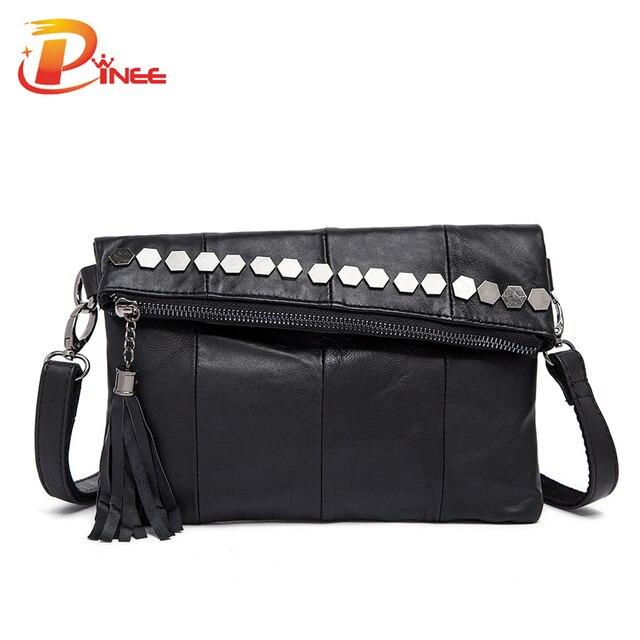 Genuine Leather Women Handbags Fashion Famous Brand 2016 Womens Shoulder Bag Vintage Tassels Crossbody Bags