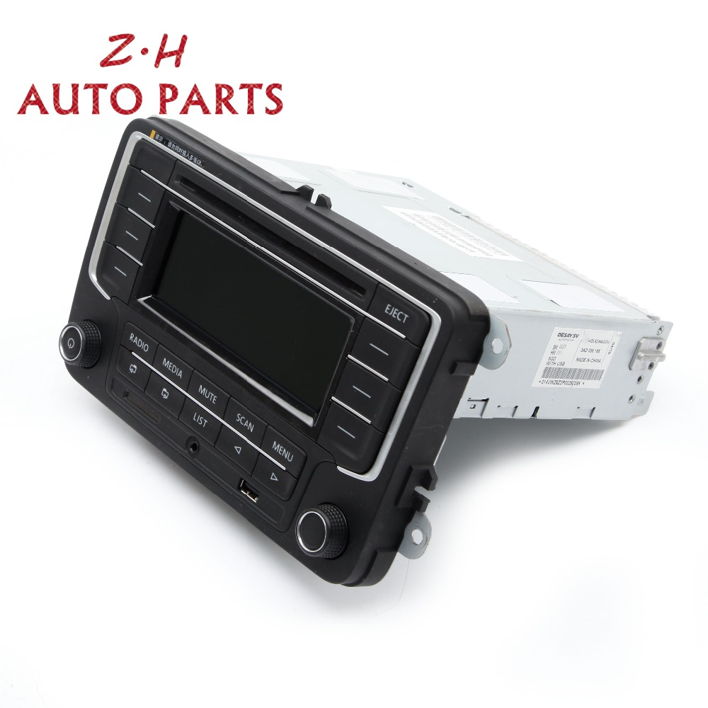 New RCD030+ USB MP3 Car Radio Fit VW Jetta Golf MK5 MK6 Passat Tiguan NEW POLO TOURAN SCIROCCO Eos OEM 3AD035185 new 3ad 035 185 car radio with usb aux mp3 sd card for vw golf jetta mkv tiguan passat cc new polo 6r 3ad035185