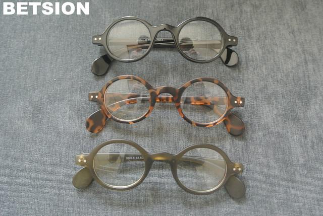 b96448a8d91c Vintage Round Small Size Reading Glasses Full Rim Men Womens +100 +125 +150  +175 +200 +225 +250 +275 +300 +325 +350 +375 +400