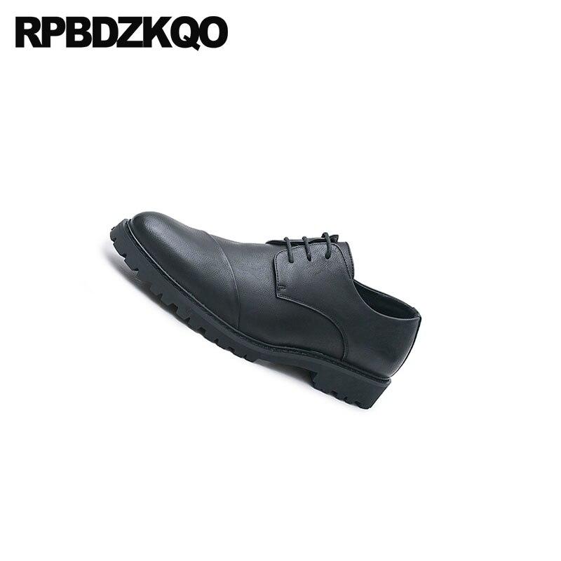Trabalho Sola Homens Oxfords Preto Borracha Elevator Escritório Black Lace Crescente Toe Elevador Designer Sapatos Apontou Casamento De black Altura Up Negócios YwTzFYnxS