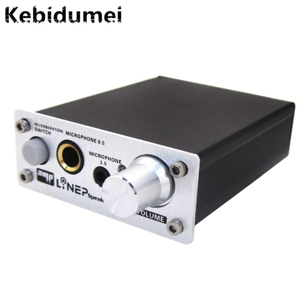 Kebidumei Профессиональный ультра компактный ПК микрофон Проводной Звук Усилители домашние аудио Слот 2 канала Микрофон Звук Усилители домашние