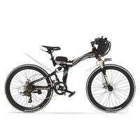K660 Leistungsstarke Folding Elektrische Fahrrad  48V 240W Mountainbike  Full Suspension  high-carbon Stahl Rahmen  Disc Bremse.