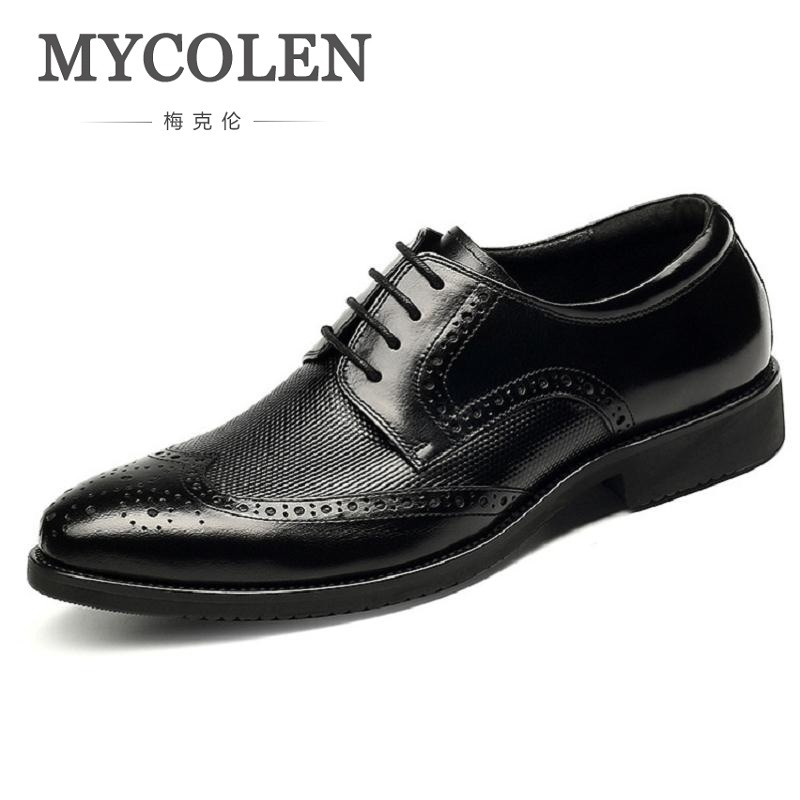 MYCOLEN Cozy Man Casual Shoes Lace Up Genuine Leather Dress Formal Shoes Luxury Fashion Breathable Oxford Shoes For Men men leather shoes casual new 2017 genuine leather shoes men oxford fashion lace up dress shoes outdoor business casual shoes