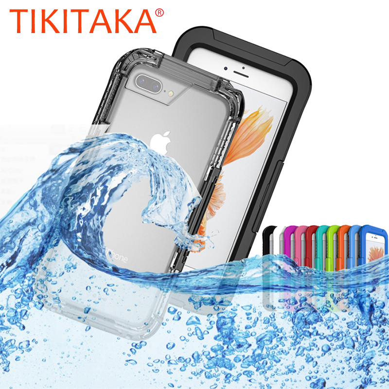Waterproof Phone Cases for iPhone 8 7 6 s Plus Phone Screen Soft TPU Swimming Diving Underwater Case for iPhone 6 6s Cover Shell