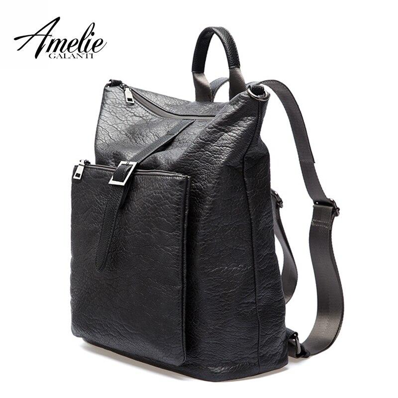 Amelie galanti женские рюкзаки унисекс модные Avant-courier Multi-function Soft из искусственной кожи непромокаемые ткани сумка для ноутбука