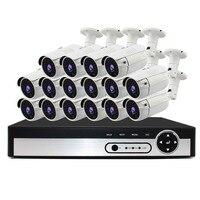 H.265 + 16CH NVR комплект видеонаблюдения 5.0MP Ночное видение Камера POE полная открытый Водонепроницаемый Камера NVR Наборы IP Камера CCTV Камера Систем...