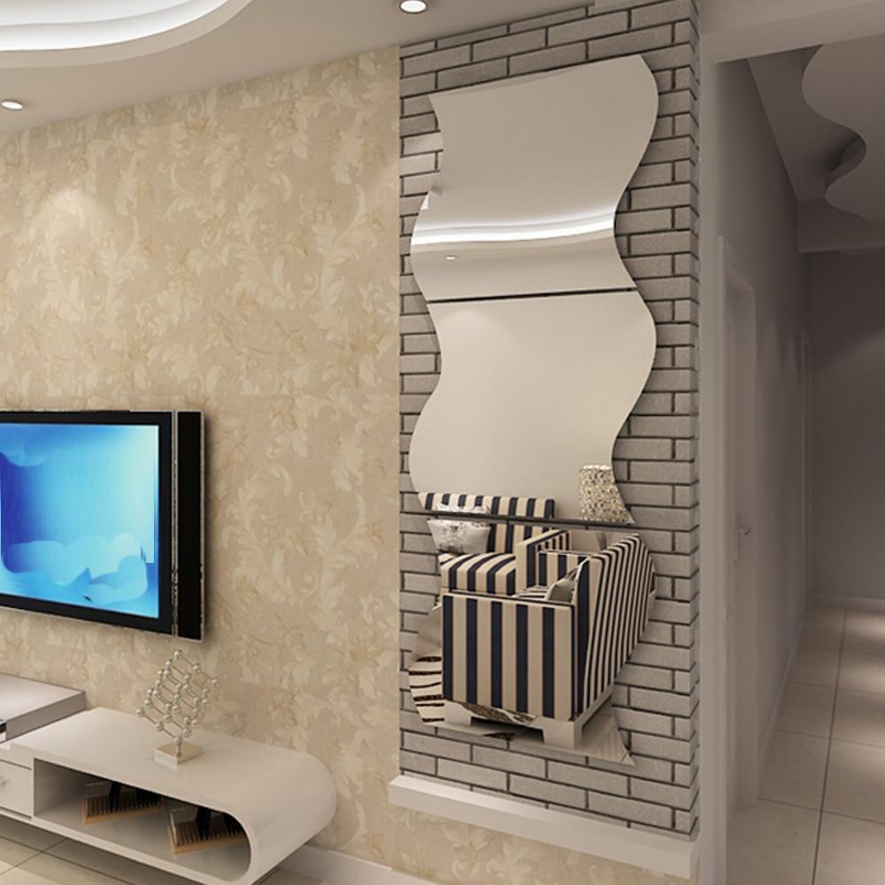 Cabine d'essayage miroir fixé Meubles 3D en trois dimensions miroir stickers muraux diy acrylique miroir sticker décoratif